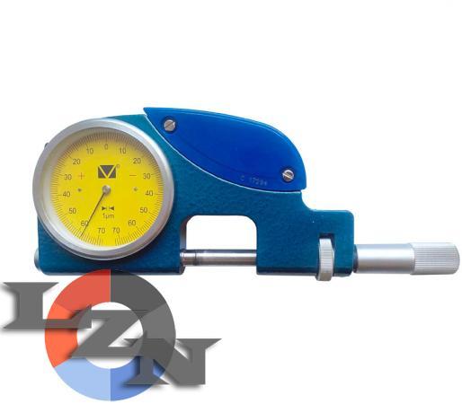 Скоба рычажная СР-В-25 (0-25 мм) с индикатором - фото